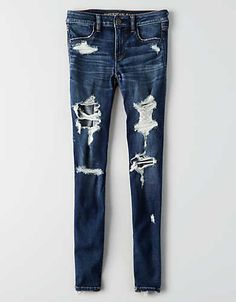 Shop American Eagle for Women's Jeans that look as good as they feel. Find high-waisted, skinny, curvy, cropped & jegging fits in new washes and stretch levels today! Cute Ripped Jeans Outfit, Cute Pants, Ae Jeans, Denim Skinny Jeans, Cute Swag Outfits, Dress Up Outfits, Cute Comfy Outfits, Teen Fashion Outfits, Outfits For Teens