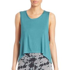 Beyond Yoga Solid Sleeveless Top (€23) ❤ liked on Polyvore featuring tops, apparel & accessories, artic teal, teal top, blue sleeveless top, sweater pullover, sleeveless tops and beyond yoga
