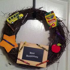 Classroom Door Wreath (Teachers get 15% discount at Michaels!)
