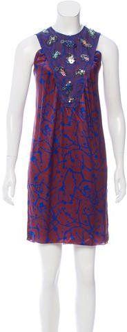 M Missoni Printed Knee-Length Dress