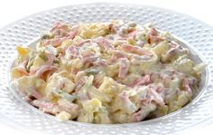 receta-de-ensalada-alemana Pasta Salad, Holiday Recipes, Potato Salad, Potatoes, Meals, Vegetables, Ethnic Recipes, Tapas, Food