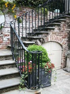 Outdoor Staircase: Historic Sword Gate House in Charleston, S.C.