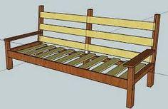 Resultado de imagem para sofá de madeira