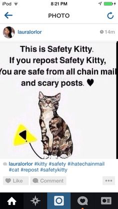 Please please work! Sick of all those repin or I'll get you posts. #SafetyKitty