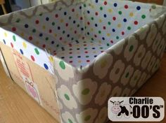 home office storage tutorial using a cardboard box and fabric Home Office Storage, Healthy Environment, Fabric Storage, Recycling Bins, Ikea Hack, Cushion Covers, Office Ideas, Box, Crafts