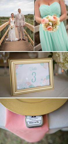 Tiffany + Michael: A Casual Coral and Mint Fall Florida Beach Wedding By Harmony Lynn Photography - Project Wedding Blog