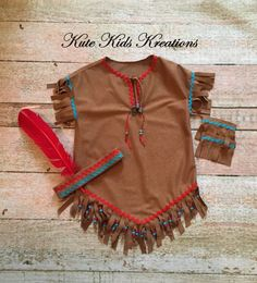 Girl's Native American Inspired Indian by kutekidskreations (thanksgiving imagenes) American Indian Costume, Indian Costumes, Diy Costumes, Halloween Costumes, Homemade Halloween, Halloween Party, Indian Party, Cowboys And Indians, Halloween Disfraces