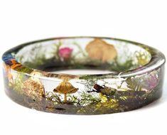 Magical Terrarium Resin Bracelet