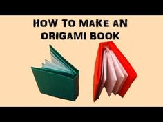How To Make an Origami Book, My Crafts and DIY Projects                                                                                                                                                                                 More