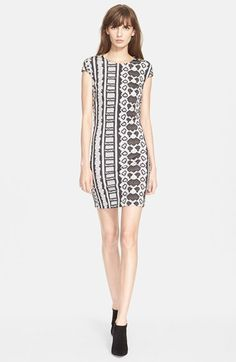 Just Cavalli Snakeskin Stripe Print Body-Con Jersey Dress available at #Nordstrom