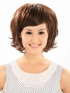 Golden+Brown+Short+Hairstyles+With+Bangs