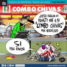 """#ElCartonDelDia para @purakuraweb """"AGRANDANDO EL COMBO"""" @Chivas @Chiapas_FC#JaguaresVsChivas#HagamosRugirElZoque #Chivas"""