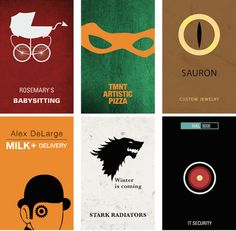 Pop Culture Characters Business Cards