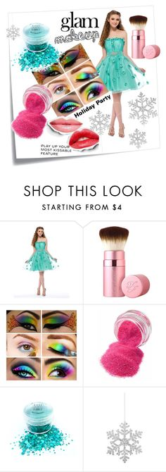 """Holiday Party Go Glam"" by stylingstation ❤ liked on Polyvore featuring Post-It, Naeem Khan, Too Faced Cosmetics, Chanel and Shishi"