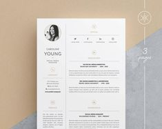 Resumes that help you make a great first impression! by KekeResumeBoutique Resume Layout, Resume Cv, Resume Design, Resume Help, Cv Template Word, Resume Templates, Cover Letter Design, Cv Cover Letter, Microsoft Word