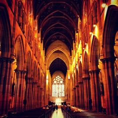 Great shot of the main hall in the St. Mary's Cathedral in #Sydney, NSW #Australia