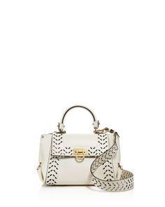 ac5e46d0d6cd Salvatore Ferragamo Sofia Perforated Leather Satchel Handbags -  Bloomingdale s