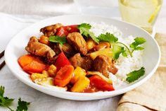 Whip up a delicious meal in 20 minutes with this Asian-inspired sweet and sour pork served with steamed jasmine rice.