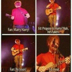 Ed has always outted Larry. I love him ❤️