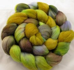 Falklands Hand Painted Wool Roving  Lichen by chimera on Etsy, $14.00