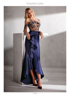 Godmother and party dresses - Valerio Luna Couture Fashion, Girl Fashion, Fashion Outfits, Evening Dresses For Weddings, Evening Gowns, Short Dresses, Prom Dresses, Mermaid Skirt, Floor Length Dresses
