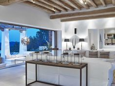 An exceptional example of fusing Ibicenco traditions with contemporary living, Can Trull is a stunning seven-bedroom villa sitting high on a northeastern hilltop in Ibiza. House Design, Tuscan House, Interior, Home, House Interior, Mediterranean Homes, Home Deco, Interior Design, Rustic House