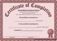 Course completion certificate template certificate of training there is a free certificate of completion template with attractive border and layout and you can yelopaper Image collections