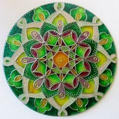"""Mandala Hand glass drawing mandala """"Probuzení....""""…"""