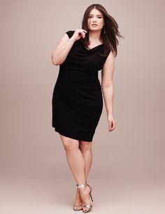 Asymmetric draped dress | Lane Bryant