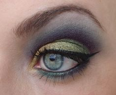 Gold, plum and grey.