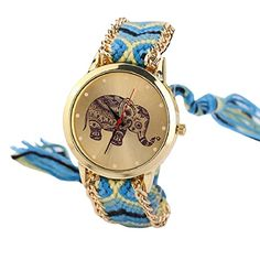 Malloom mujeres dama retro elefante patrón cuerda tejida pulsera cuarzo reloj Relojes de pulsera Amarillo + azul Malloom http://www.amazon.es/dp/B00WHMA3TW/ref=cm_sw_r_pi_dp_jW3Wvb03J81CH