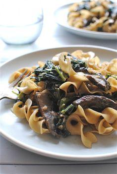 Portobello Mushroom and Kale Stroganoff.