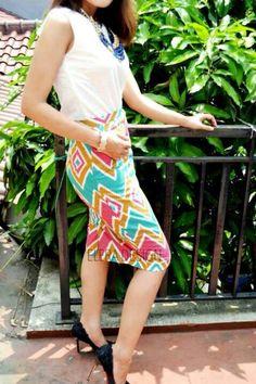 Aditi Multicolour Short  Rp 99k Line: eleradesign  #colorful #skirt #formal #chic #stylish #