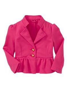 Peplum blazer | Gap  - Summer Azalea    So tempted to get this one too. So cute.