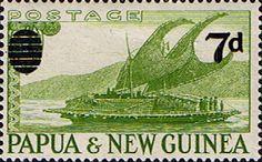 Papua New Guinea 1957 SG 17 7d.Overprint Fine Mint Scott 138 Other Papua New Guinea Stamps HERE