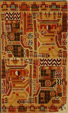 "Wari | fragment: tunic | camelid hair + cotton | 12-7/8"" x 21"" | Peru | c. 7th-9th century"