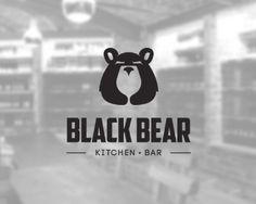 Black Bear by Nuray Nuri, via Behance 2 Logo, Typo Logo, Bear Graphic, Logo Creation, Music Logo, Bear Logo, Great Logos, Logo Restaurant, Design Graphique