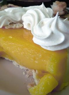 """~Poor Man's Lemon Meringue Pie~ (made with apple cider vinegar) The recipe is at the bottom of a great blog post. Keep reading til....  1 ½ cups cider vinegar  2 cups water  4 TBSP unsalted butter  1 ½ cups plus 2 tsp sugar  Zest of ½ lemon  5 eggs, separated  3 TBSP all purpose flour  2 9"""" pie shells"""