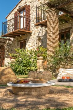 Natural stone made villa experience in Zakynthos, Greece. Combining with natural surroundings. Zakynthos Greece, Ceiling Beams, Natural Stones, Gazebo, Most Beautiful, Villa, Relax, Outdoor Structures, Cabin