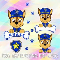 SVG DXF Png Paw Patrol Layered Cuttable File Marshall Dog Bone Name Paw Badge Shield Cricut Design Silhouette Studio Tshirt Iron on Birthday Paw Patrol Cake, Paw Patrol Party, Personajes Paw Patrol, Paw Patrol Cartoon, Imprimibles Paw Patrol, Paw Patrol Birthday Theme, Cumple Paw Patrol, Paw Patrol Coloring Pages, Crafts