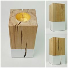 Candle holder beech solid big natural Farbdip