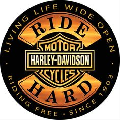 "Harley-Davidson 14"" Round Tin Sign - Ride Hard - 2010671"