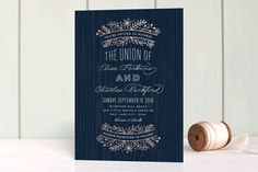 Into the Woods Foil-Pressed Wedding Invitations by Hooray Creative at minted.com
