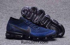 Nike Air VaporMax Flyknit Men Dark Blue Black