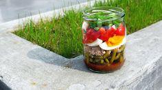 Polskie South Beach: Co brać do pracy: warstwowa sałatka z jajkiem i tuńczykiem