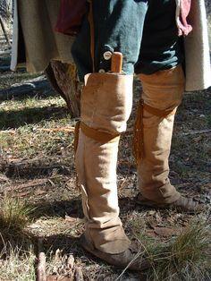 buckskin leggings, 18th century