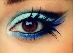 Fairy makeup. Blue eyeshadow