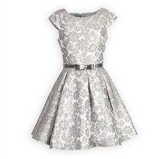 Silver Royalty Swing Dress