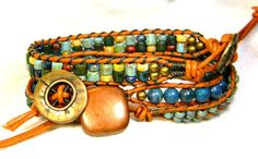With this listing you get a quick solution to the question of what to wear on your wrist.  Here you have three hand made leather wrap bracelets for the