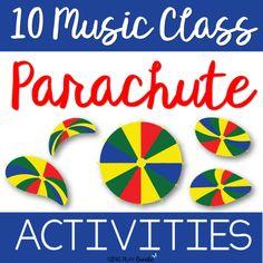 10 Music Class Parachute Activities - Movement Activities, Music Activities, Music Games, Music Music, Music Stuff, Toddler Activities, Preschool Music, Teaching Music, Teaching Kids